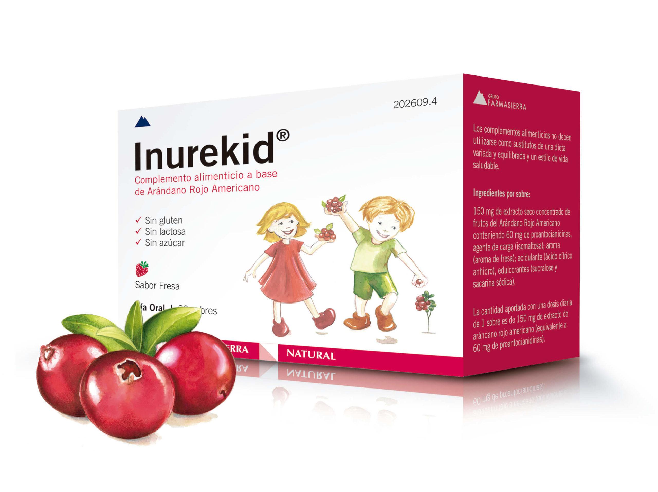 Farmasierra lanza Inurekid®, un complemento alimenticio a base de arándano rojo para el manejo de las infecciones urinarias en niños